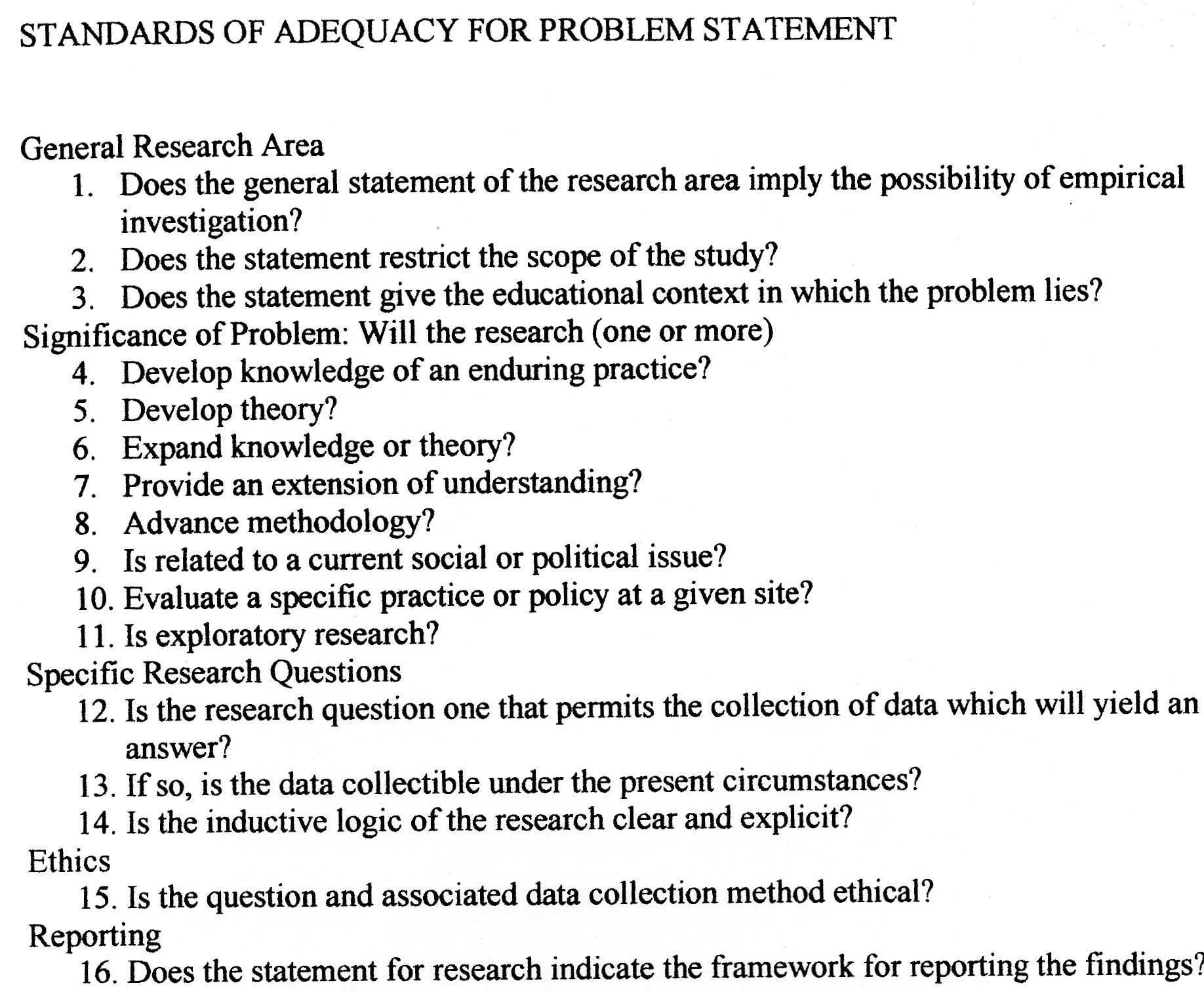 research problem statement thesis